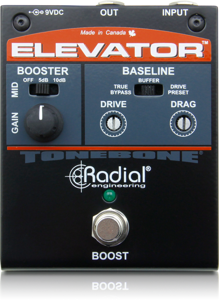 Elevator Radial Engineering Lowvoltagemicrophonepreamp Preamplifier Audiocircuit Variable Clean Boost With Impedance Control