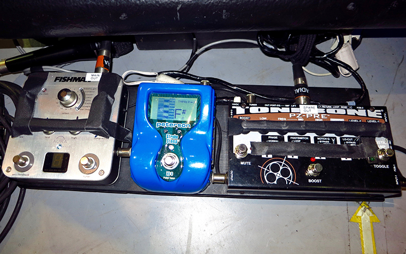 Radial PZ-pre on pedalboard