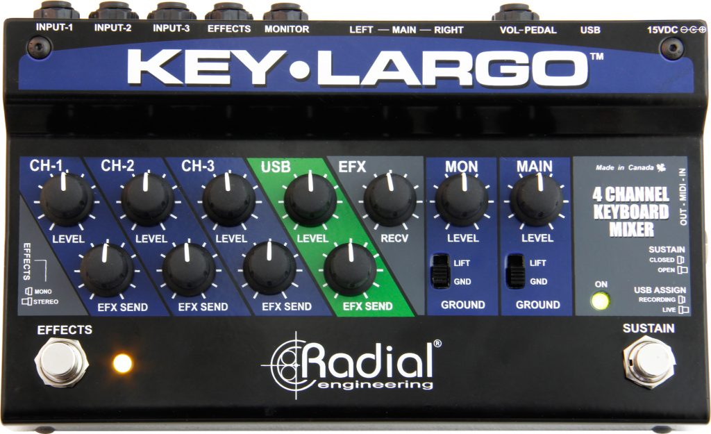 Key Largo Top Keyboard mixer