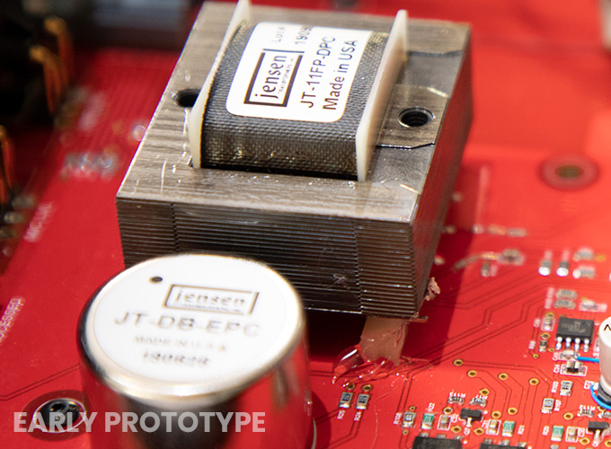 An image of a Jensen transformer for a blog post on Radial Engineering's HDI direct box.